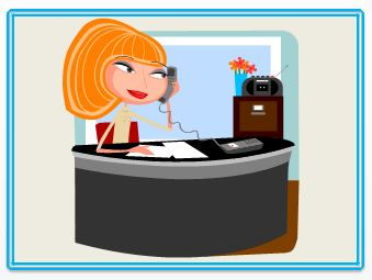 Cartoon Lady on Phone